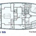 Diesel Duck Oceaneer 55 first deck drawing