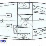 Diesel Duck Oceaneer 55 machinery tanks engine drawing