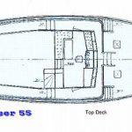 Diesel Duck Oceaneer 55 top deck drawing