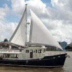 Diesel Duck sedan open sails starboard 2