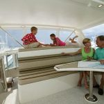islander 60 friends sitting on flybridge