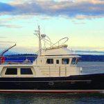 seahorse 52 trawler open water sunset