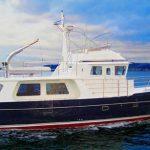 seahorse 52 trawler open water